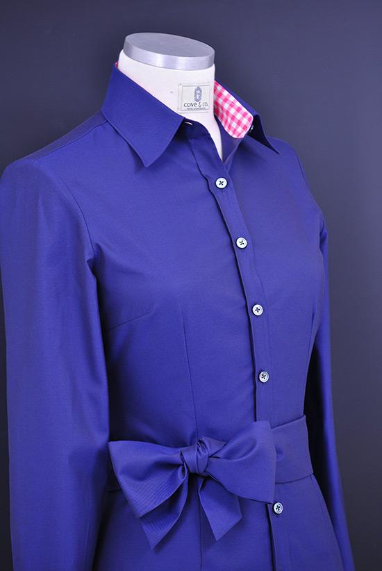 Bluse nach Maß violett