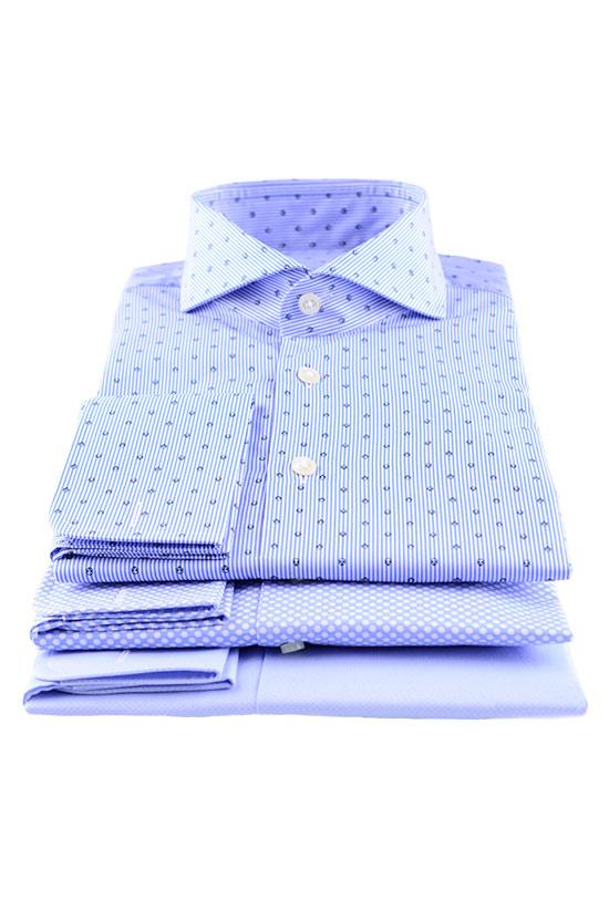 blaue Maßhemden